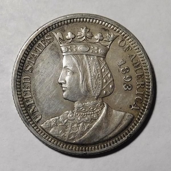 1893 ISABELLA QUARTER XF/AU