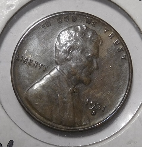 1931-S LINCOLN CENT CH BU MS-63 BROWN